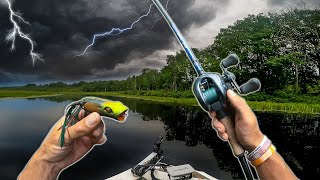 PIKE Fishing a Swampy River Before a HURRICANE -- (Topwater EATS)