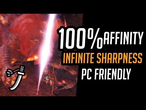 MHW: Long Sword HIGH DPS Affinity Builds | Divine Slasher