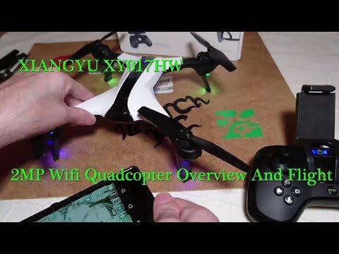XIANGYU XY017HW WIFI FPV Quadcopter Overview And Test Flight