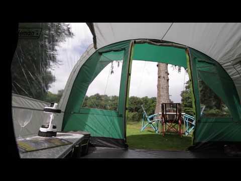 Coleman® Rocky Mountain 5 Plus - Familienzelt mit Nachtschwarz-Schlafkabinen - DE