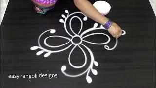 Simple beginners kolam by easy rangoli designs channel    new muggulu