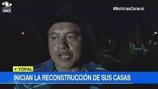 HABITANTES DE LA BENDICIÓN INICIAN LA RECONSTRUCCIÓN DE SUS CASAS