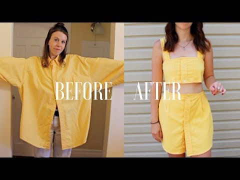 Download DIY | Upcycle Men's Button Up Shirts -- Ep. 1: Matching Two Piece Set HD Mp4 3GP Video and MP3