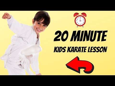 How To Learn Karate At Home For Kids | 20 Minute Beginner Lesson!
