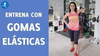 ENTRENAMIENTO de BRAZOS y ESPALDA solo con una GOMA ELÁSTICA | Vitónica