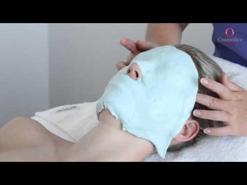 Facial mask na may cranberries