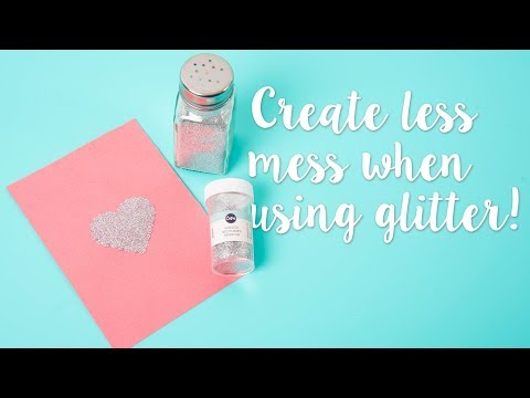 Easy Glitter Storage Hack