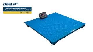 Industrial Floor Scale - 3000kg, 120 cm W x 120 cm L - Digital - Low Profile #D1100111