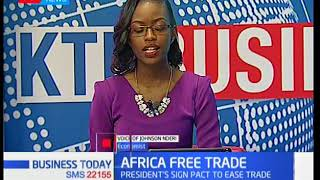 Business Today - 22nd March 2018: Economist Johnson Nderi talks about Africa's Free Trade Block