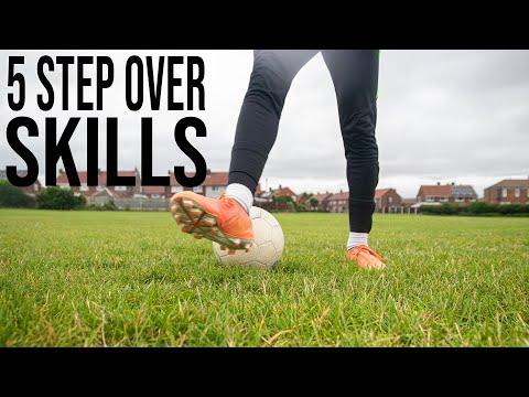5 Step Over Skills | Learn 5 Step Over Football Skills