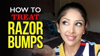 RAZOR BUMPS DOCTOR V | How to Treat Razor Bumps for BROWN/DARK Skin of Colour | Dr V #SOC
