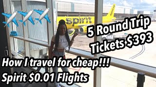 HOW I TRAVEL FOR CHEAP? | SPIRIT AIRLINES PENNY FLIGHTS (Not CLICKBAIT) Fly for a PENNY