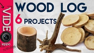 Turning Wood Log Into 6 Awesome DIY  Home Decor Stuff