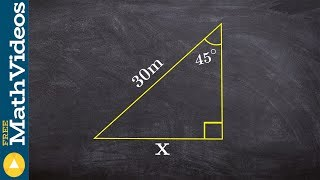 Find The Missing Side Of A Triangle Using Special Right Triangles