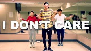 """I DON'T CARE""  Justin Bieber & Ed Sheeran 10 Minute Dance Challenge W Kenny & AC"