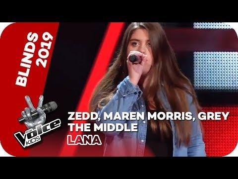 Zedd, Maren Morris, Grey - The Middle (Lana) | Blind Auditions | The Voice Kids 2019 | SAT.1