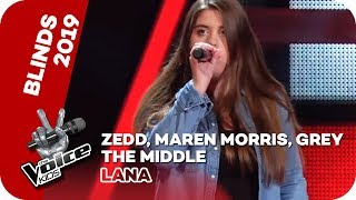 Zedd, Maren Morris, Grey   The Middle (Lana) | Blind Auditions | The Voice Kids 2019 | SAT.1