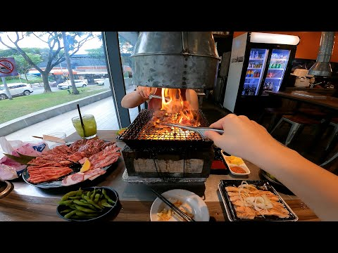 Japanese All-You-Can-Eat Charcoal BBQ Buffet