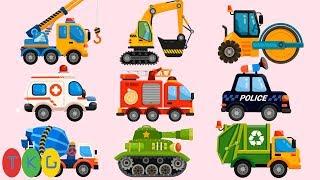 Lắp Ráp Xe Xúc Đất, Xe Cần Cẩu, Xe Trộn Bê Tông, Xe Tank - Xe Cứu Hỏa - Cứu Thương (FULL)