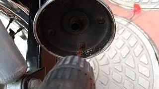 CBX125カスタムの純正マフラーを・・・ドリルで穴をあけてみたw