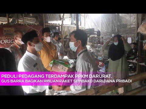 Peduli Pedagang Terdampak PPKM Darurat, Gus Barra Bagikan Ribuan Paket Sembako dari Dana Pribadi
