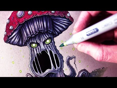 Let's Draw an EVIL MUSHROOM - FANTASY ART FRIDAY
