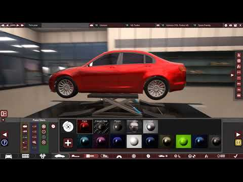 A Gorgeous V6 Racing Car Build in Automation Game