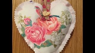 Sew Scrumptious Fabrics Lavender Heart Tutorial