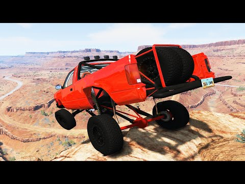 Cliff Drops #4 - BeamNG Drive | CrashTherapy
