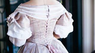 Civil War Dress - Historical Fashion - 1860s Ball Gown -  VIDEO