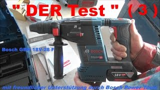 Bosch GBH 18V-26F Professional Produkttest Teil 3
