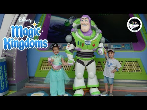 Disney World Magic Kingdom Buzz Lightyear Space Ranger Spin!!!
