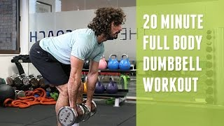 20 Minute Full Body Dumbbell Workout | The Body Coach by The Body Coach TV
