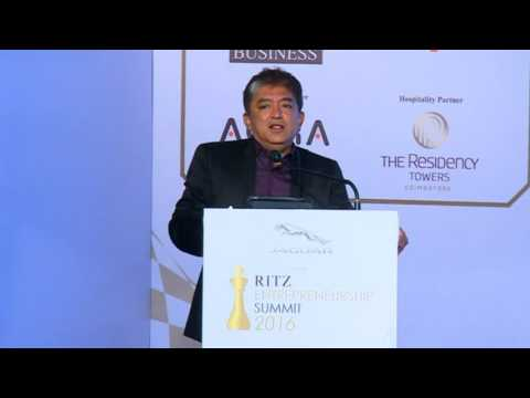 Harish Bijoor at Jaguar RITZ Entrepreneurship Summit 2016, Coimbatore