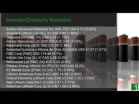 InvestorChannel's Lithium Watchlist Update for Friday, Jun ... Thumbnail
