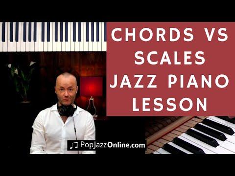 Learning JAZZ PIANO CHORDS vs Jazz Scales 🎹😃 │ Jazz Piano Lesson