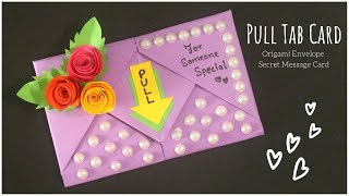 Pull Tab Card Origami Envelope Card | Birthday Card | Letter Folding Origami | DIY Greeting Card
