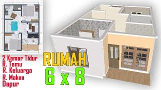 Download Lagu Desain Rumah Sederhana 6x8 Meter Dengan 2 Kamar Tidur Desain Rumah Rumah Minimalis Mp3 4 20 Mb Downloadlagu
