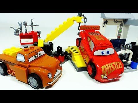 ТАЧКИ 3 Лего Машинки Маквин Автомастерская Выхлопа Мультики про Машинки Видео для детей Cars 3 Lego