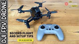 DJI FPV Drone - Second flight - Unedited Video