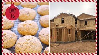 VLOGMAS 2018 ❄ Day 16   House Update & Eggnog Snickerdoodle Cookies