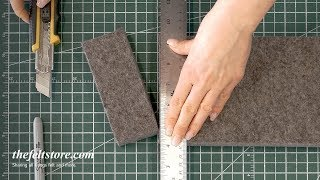 How to Cut Thick Felt (3mm+) | The Felt Store