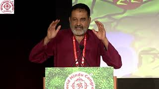 Shri Mohandas Pai speaking at WHC 2018 Plenary Session