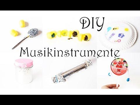 DIY: 7 tolle Musikinstrumente für Kinder ganz einfach selber machen. Basteln aus Müll