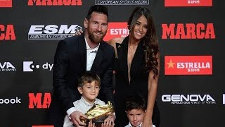 Lionel Messi presented with sixth Golden Shoe award