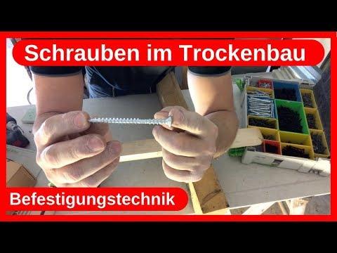 Schrauben im Trockenbau / Befestigungstechnik /Justierschrauben / Stellschrauben / Dachausbau DIY