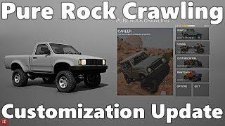 Pure Rock Crawling: NEW UPDATE! Customization Gameplay