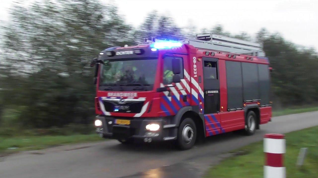 Brandweer komt ter plaatse bij een brand agrarische (Grote brand) aan de Nieuwe dijk Kesteren