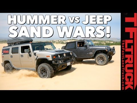 What's Better in the Sand Dunes: Hummer vs Jeep TFLtruck Celebration