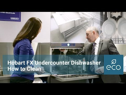 Hobart PROFI FX Undercounter Dishwasher Clean Down